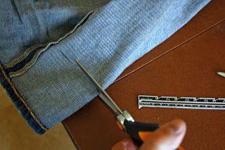 The Pretty Poppy: How to hem jeans using the original hem..the best way!!
