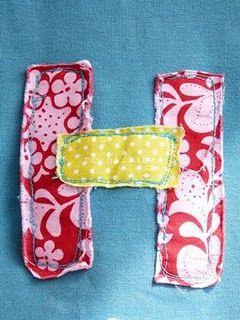 Fabric initials