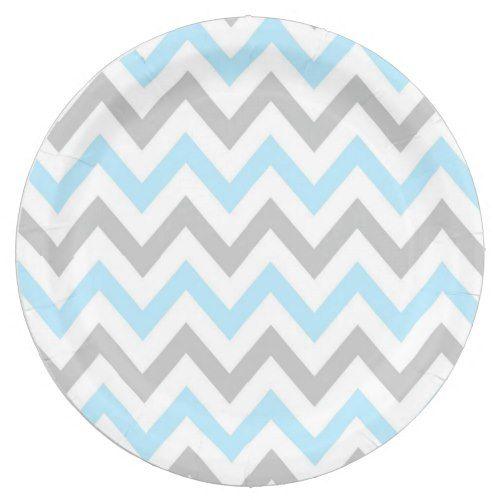 Light Blue and Grey Chevron - Modern Boy Paper Plate  sc 1 st  Pinterest & Light Blue and Grey Chevron - Modern Boy Paper Plate | Grey chevron