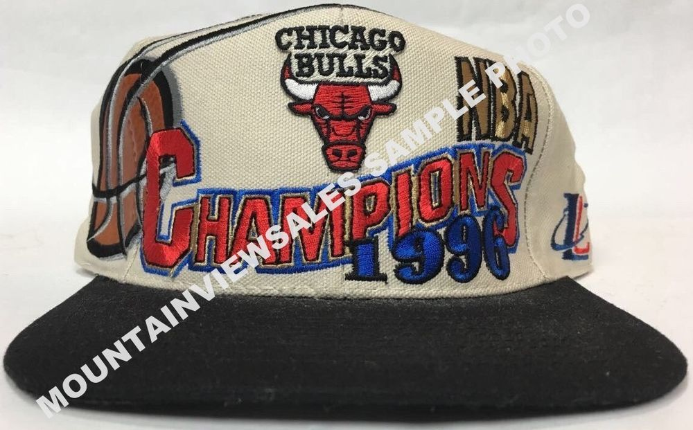 45d06f54666 Vintage 1996 Bulls Champions Logo Athletic Locker Room Cap Hat Official  Sealed  ChicagoBulls