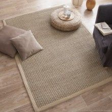 tapis jonc de mer tissage large avec ganse en coton essential myikeabedroom sisal salons. Black Bedroom Furniture Sets. Home Design Ideas