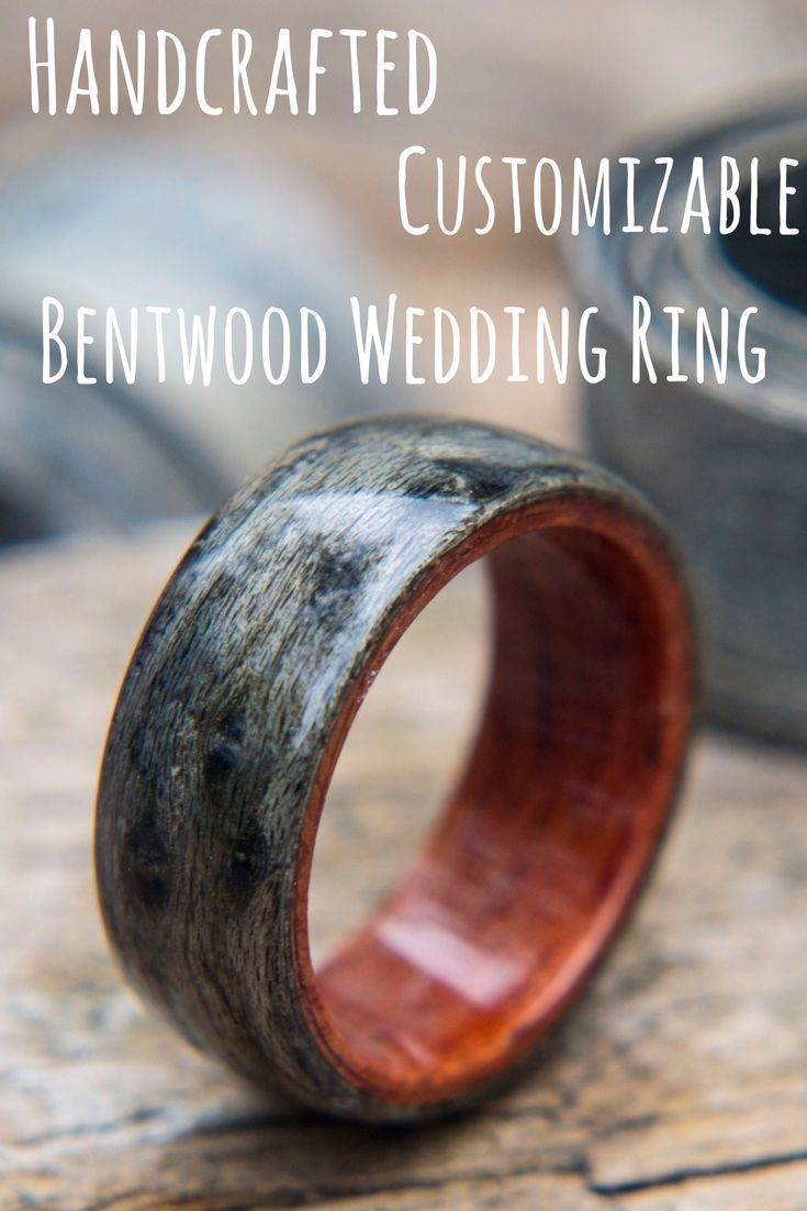 wooden or with wedding wood images bent rosewood band ring for inlay rings bentwood stone set
