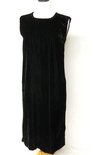 """BIN $14.99 VTG Angelheart (Easy A-line chemise)  Size S    100% rayon velvet    41'length, 36' bust, 40"""" waist, 42' hips"""