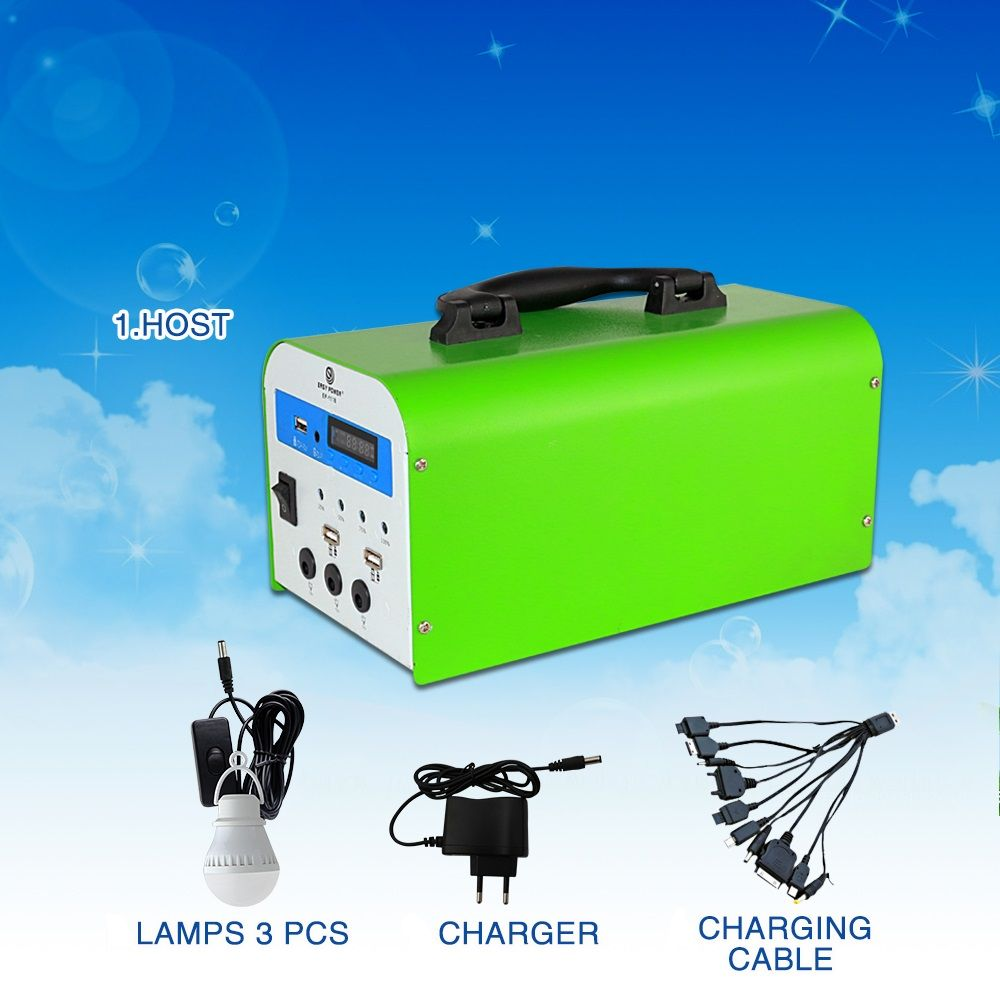 Solar Power System Lamps Charger Charging Cables Portable Solar Power Solar Power Kits Solar Power System
