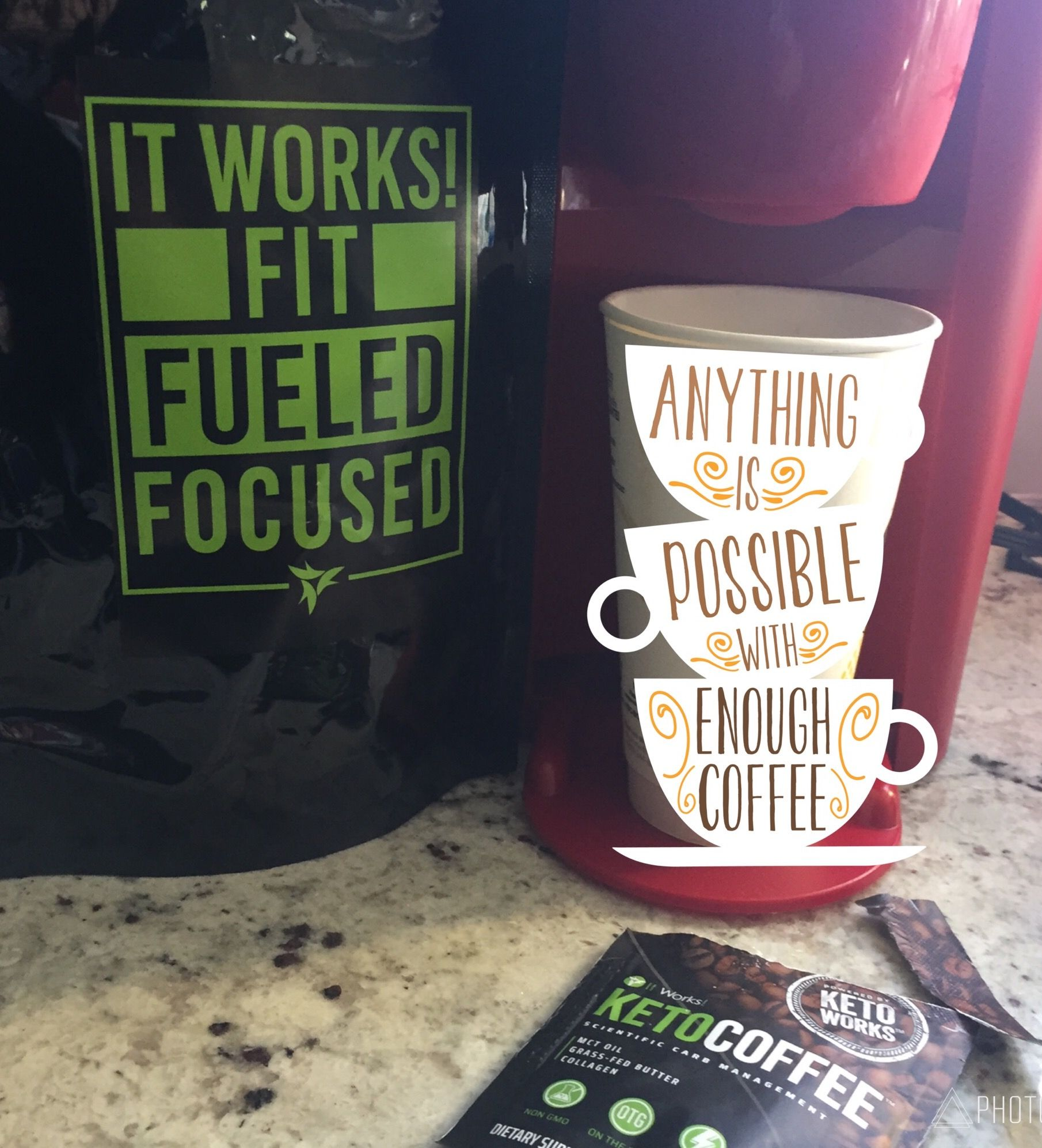 Begin Your Keto Day FitFueledFocused With ItWorks Coffee