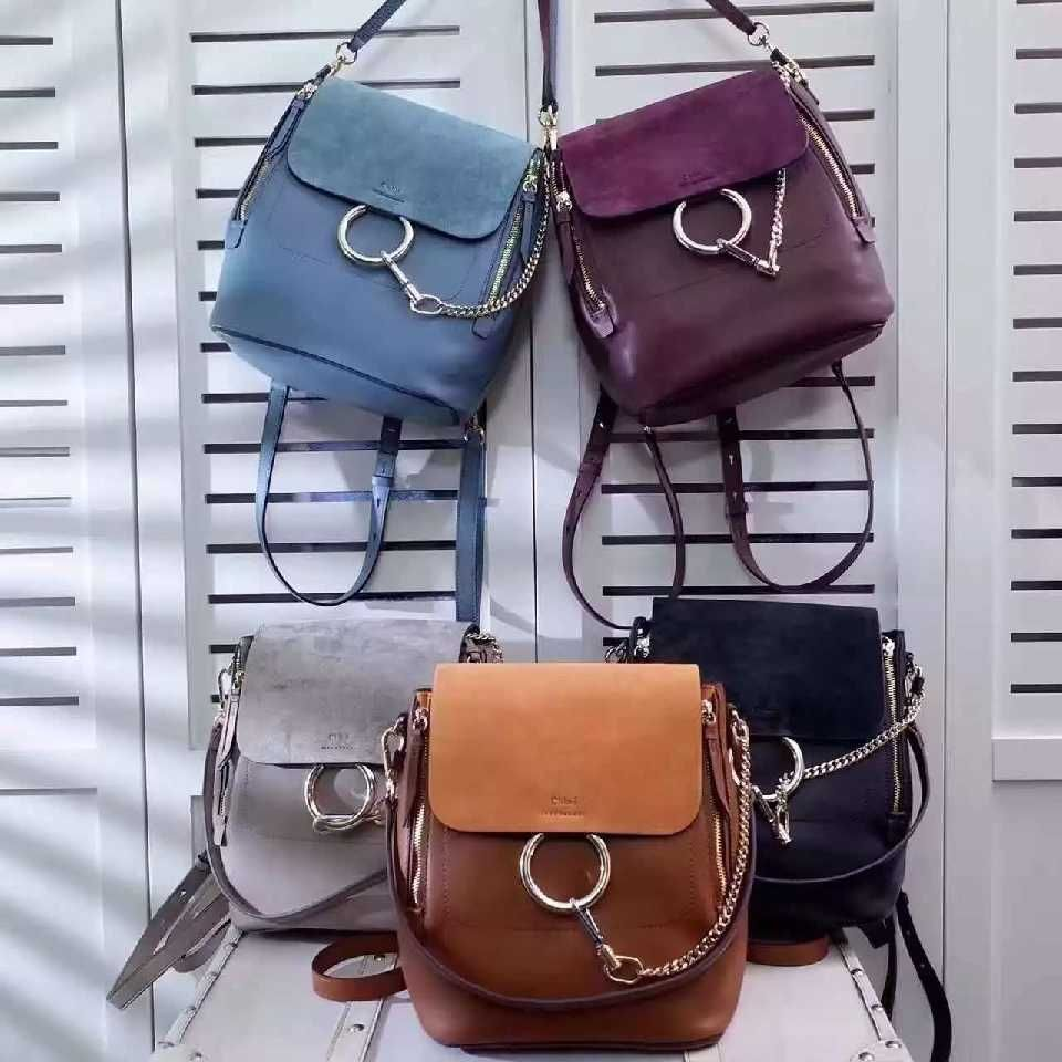 ce406a206 Authentic Quality 1:1 Mirror Replica Chloe Medium Faye Backpack Smooth &  Suede Calfskin