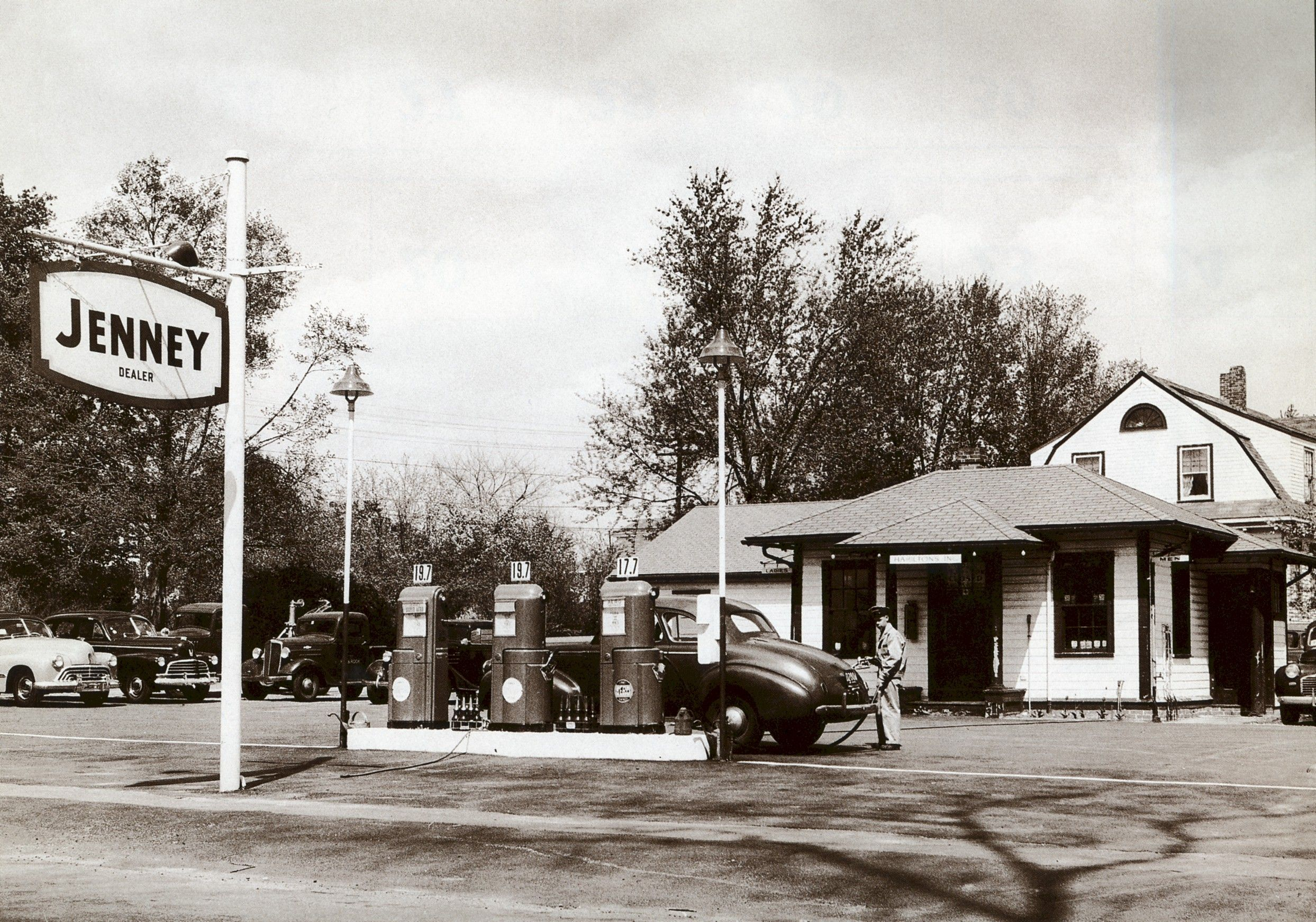 Jenny Gas Service Station Holbrook Mass 1949 Old Gas