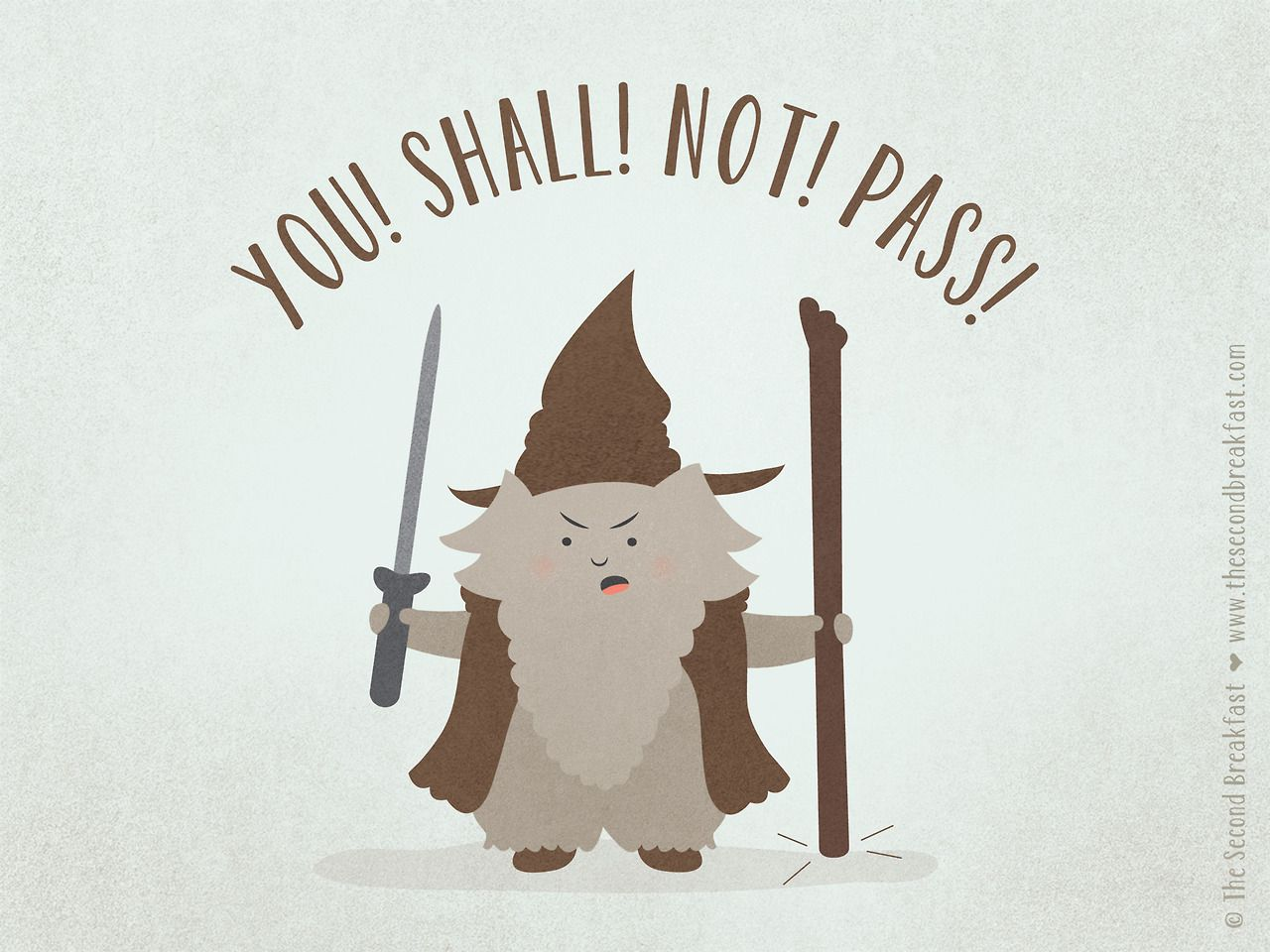 YOU SHALL NOT PASS! Halloween is right around the corner. Do you have your costume ready?? | www.thesecondbreakfast.com