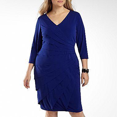 London Times Shutterpleat Dress Plus Sizes Jcpenney