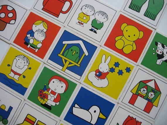 20 miffy memory game cards by dick bruna vintage for Bruna ommen