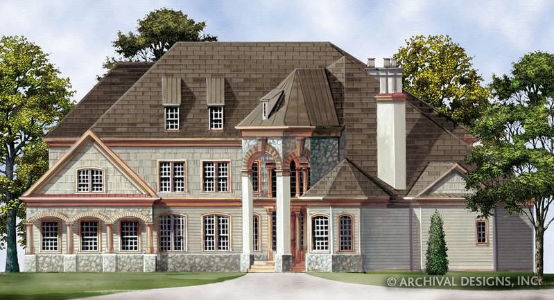 Hennessey Courtyard Luxury Floor Plan 4000 Sq Ft House Plan Archival Designs Castle House Plans Courtyard House Plans Castle House