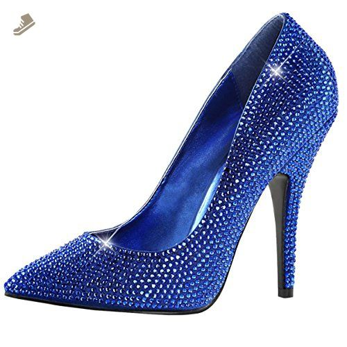 Womens Royal Blue Pumps Pointed Toe