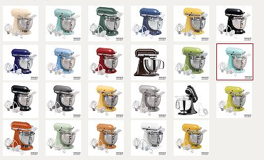 KitchenAid Artisan 5qt Mixer Only $144 Shipped !!! Lots Of COLOR Choices