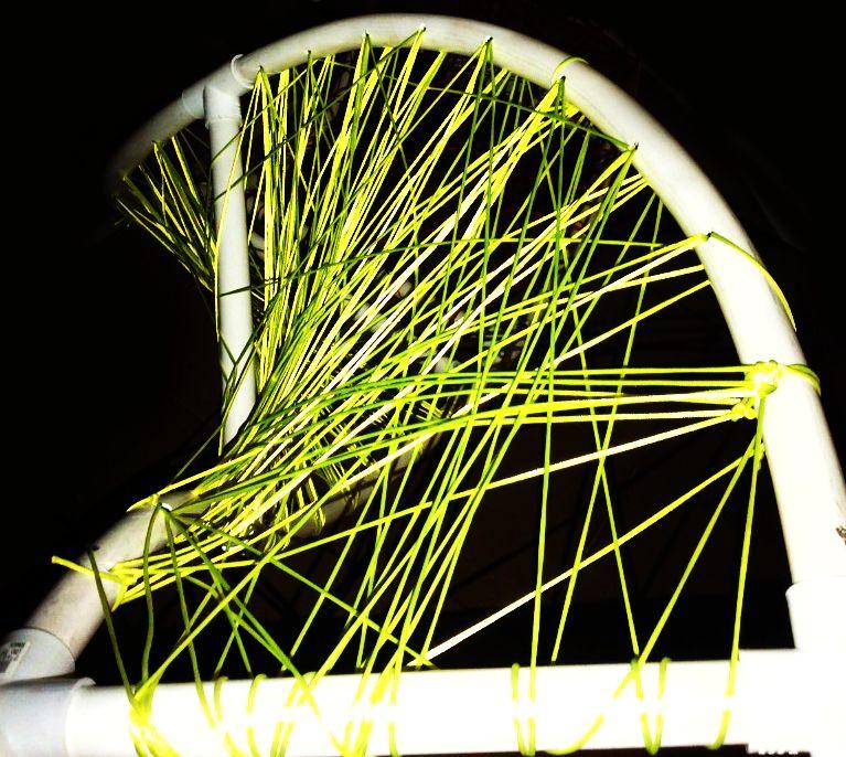 #EVA 2013 (Espacios Vivenciales de Arte) Pontificia Universidad Catolica Madre & Maestra  #PROCESO DE DISENO (#Diseño IV) AWQA SISA - Sebastian Naranjo  #DESIGN #ARCHITECTURE #ART #TEMPORARY #PVC #STRING #RECYCLING #ORGANIC #PUCMM