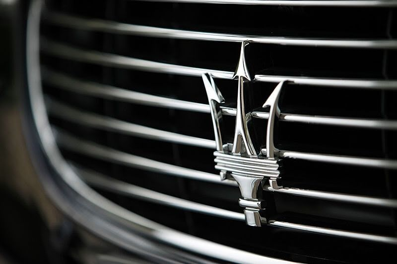 The trident logo on the Maserati is very bold and is effective in ...