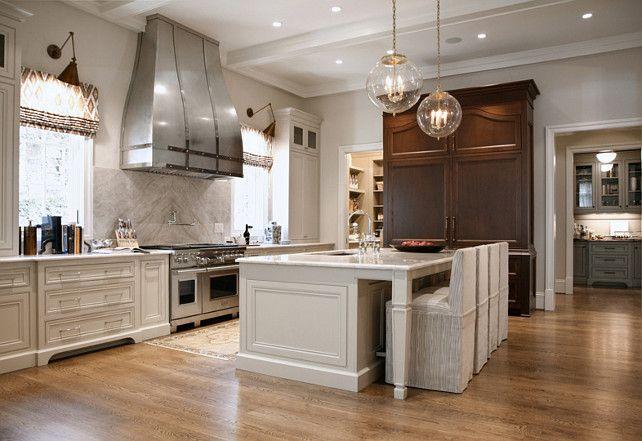 Best Warm White Kitchen Design Gray Butler's Pantry Home 400 x 300