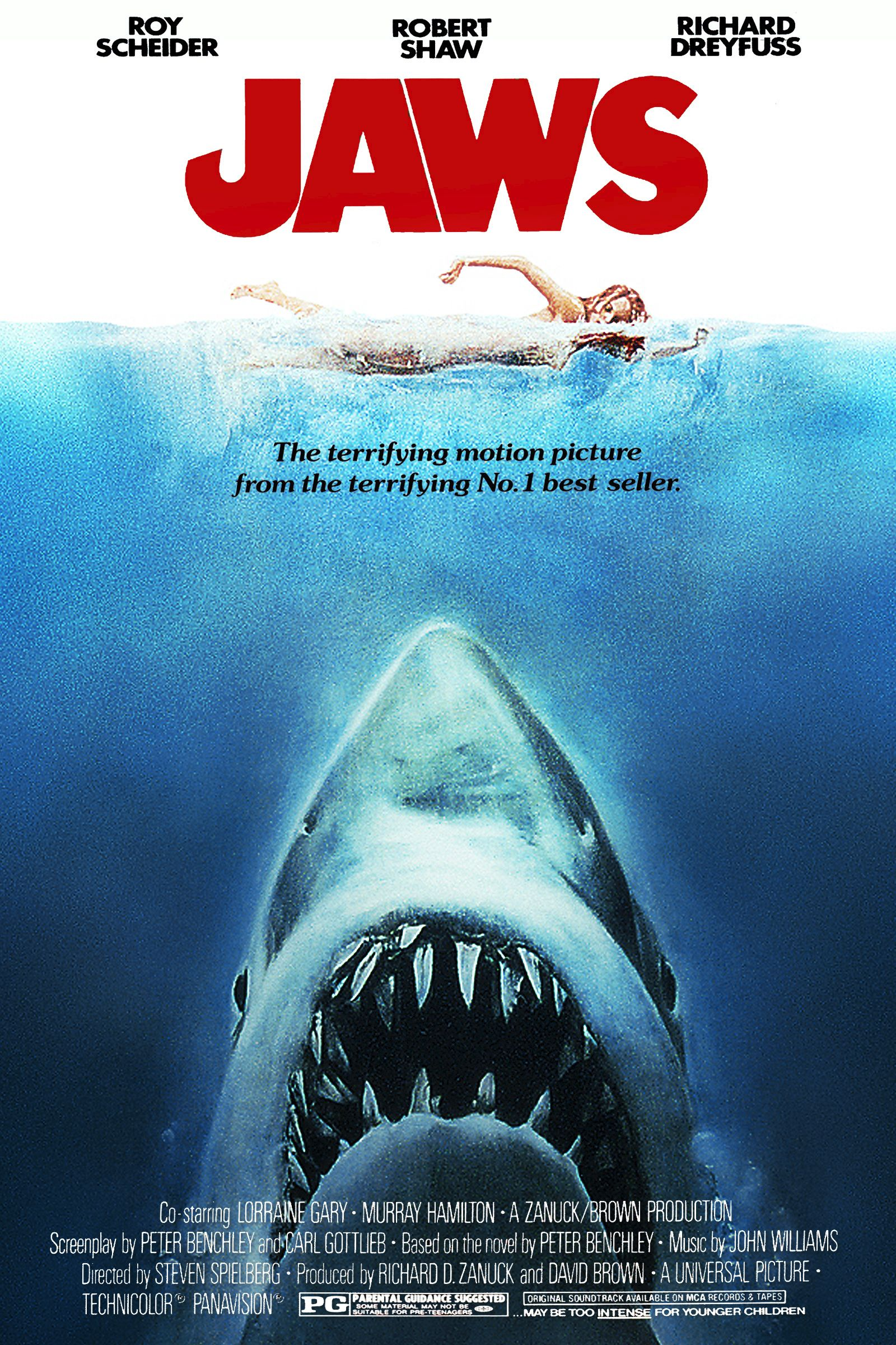 Spielberg Wall Art Print Decor TV Show Movie Room Gift Jaws Poster Unframed