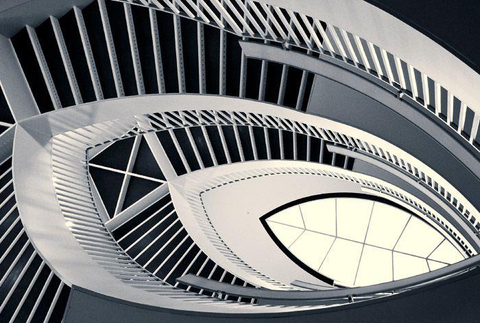Chicago Modern Architecture staircase, chicago museum of contemporary art, designedjosef