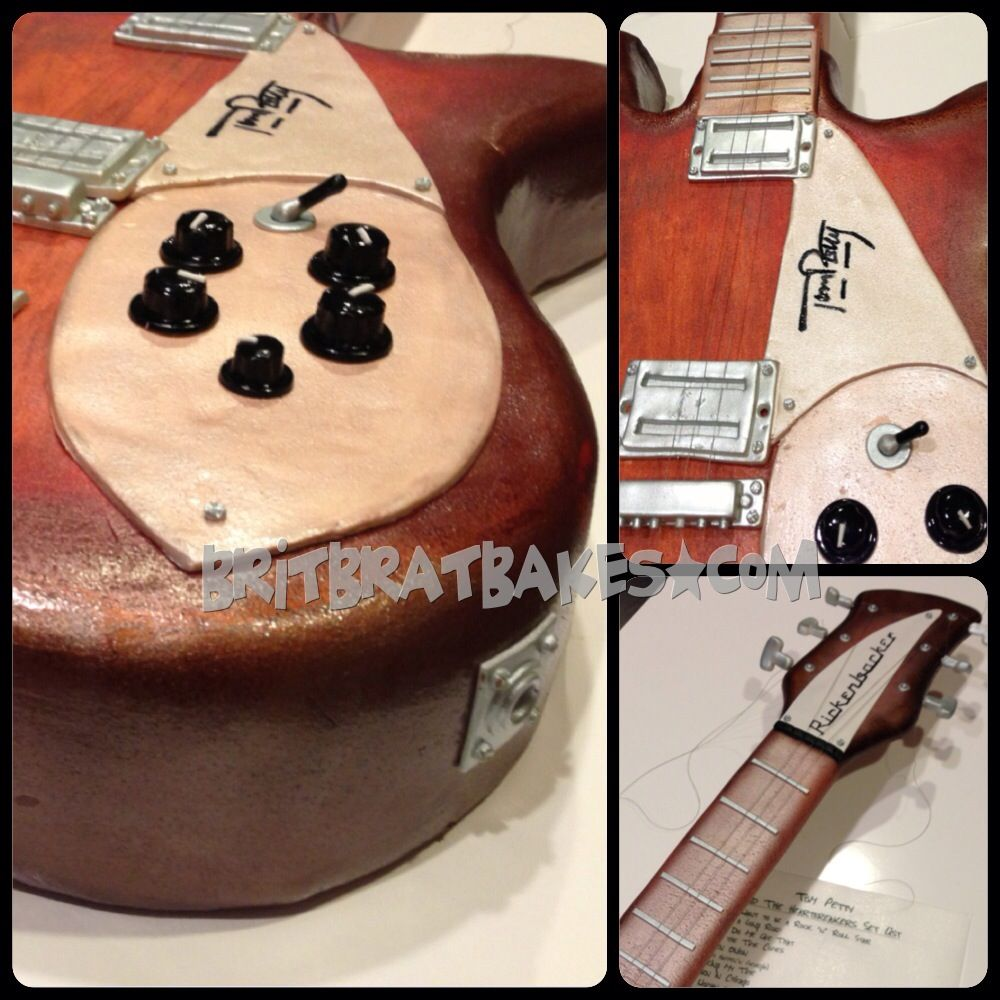 tom petty signature rickenbacker guitar cake by brittney mitchell guitars. Black Bedroom Furniture Sets. Home Design Ideas