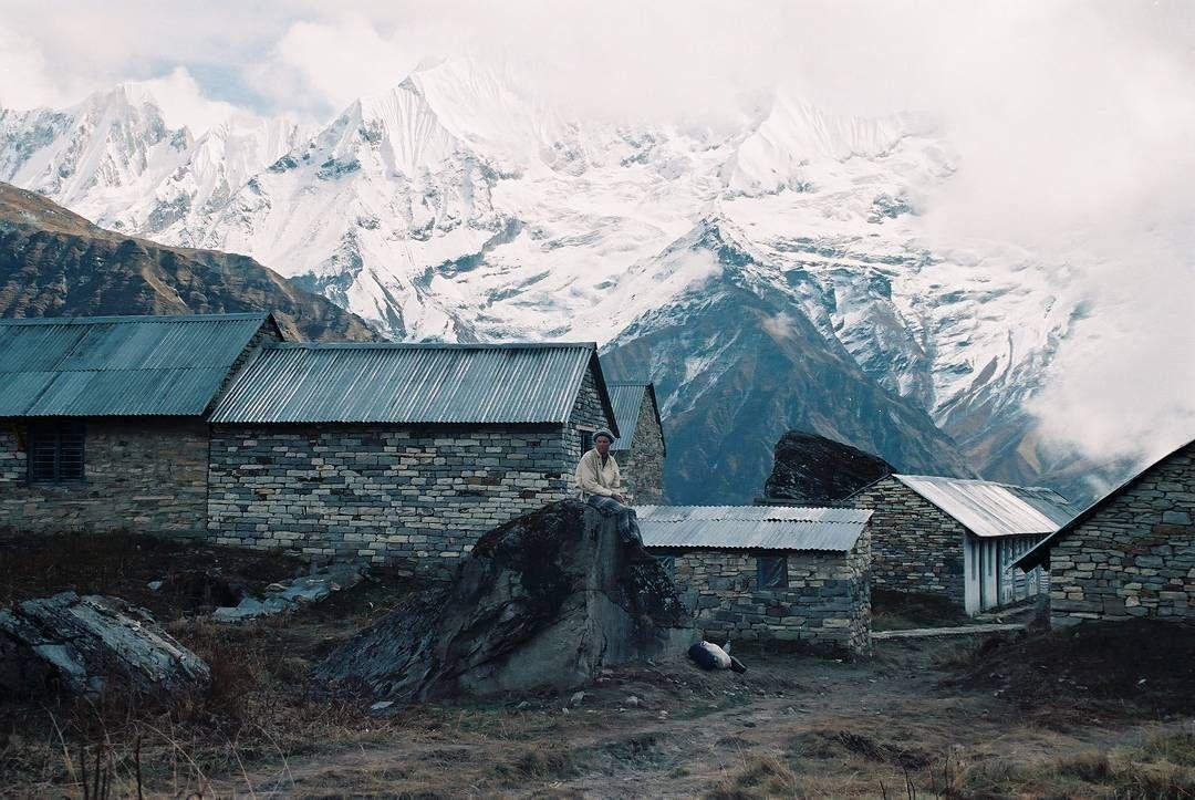 At Annapurna base camp 1997. Thanks to @healthy_inside_ for taking the photo.  #Nepal #trek #Himalaya #annapurna #film #craigfergusonimages