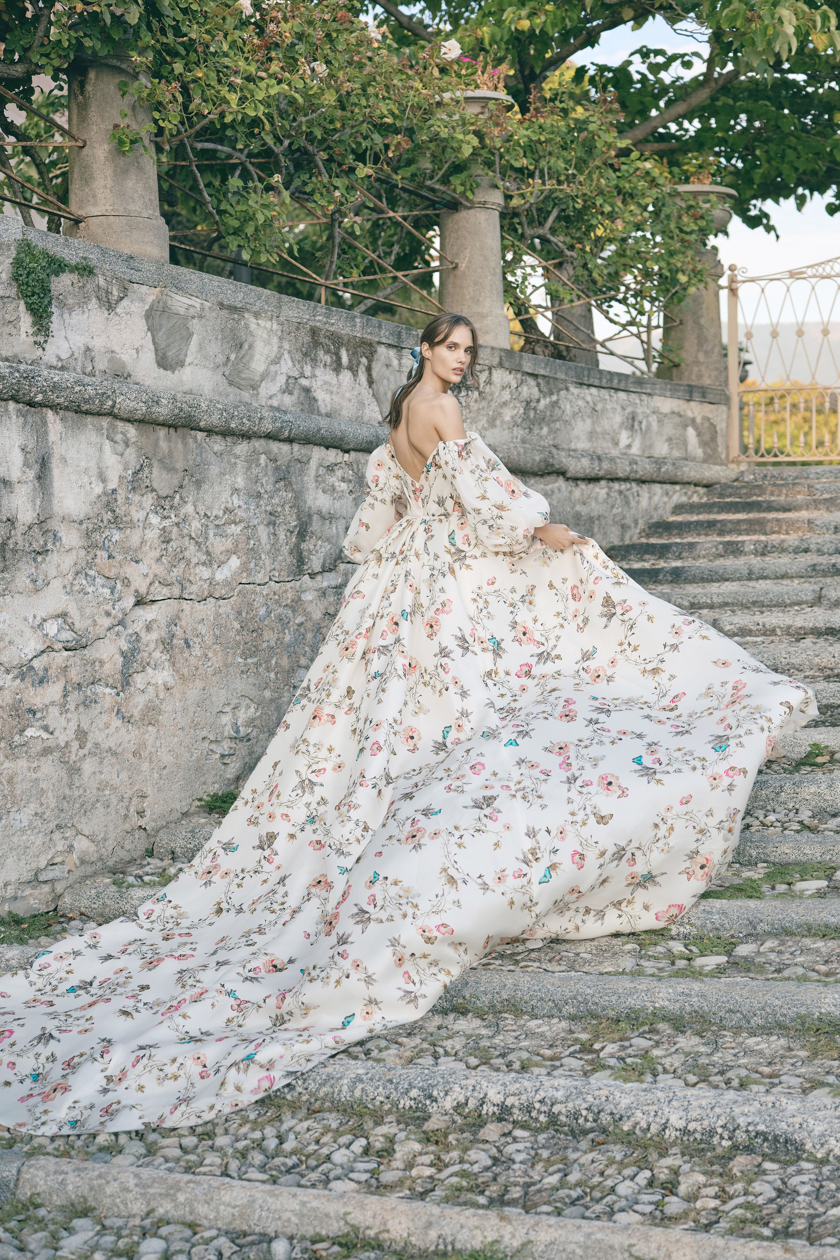 Floral Wedding Dress Image By Monique Lhuillier On Fall 2020