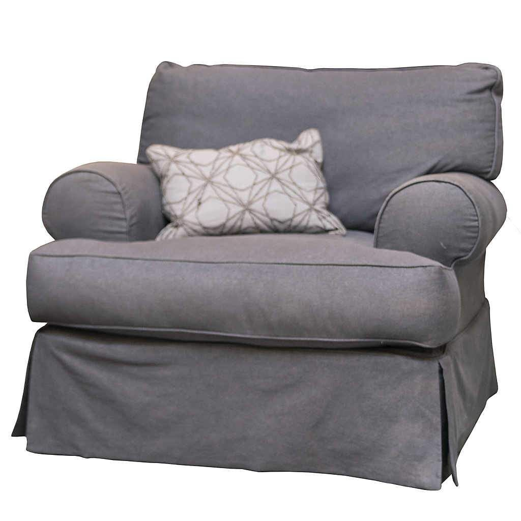 Classic grey slipcover chair slipcovers for chairs