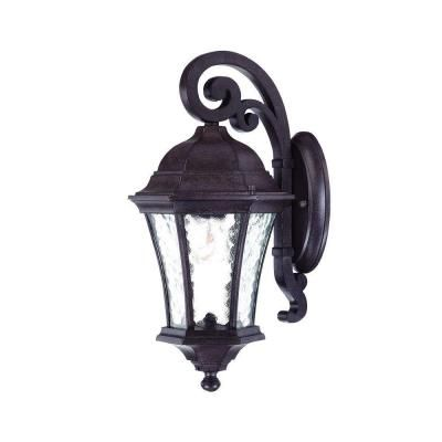 Acclaim Lighting Waverly Collection 1 Light Black Coral Outdoor Wall Lantern Sconce 3602bc The Home Depot Outdoor Wall Mounted Lighting Black Outdoor Wall Lights Acclaim Lighting