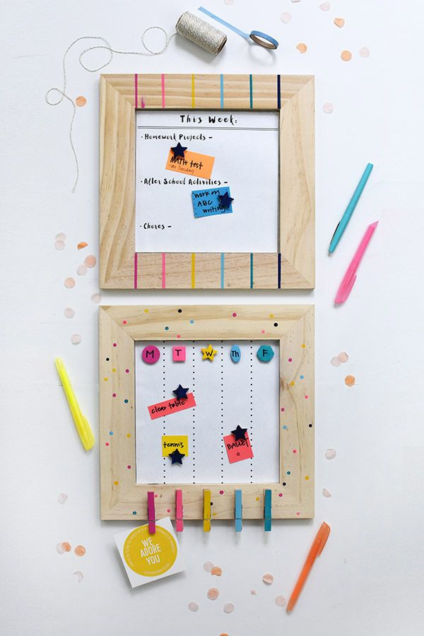 How to make a Colorful Back to School Calendar Pinterest School