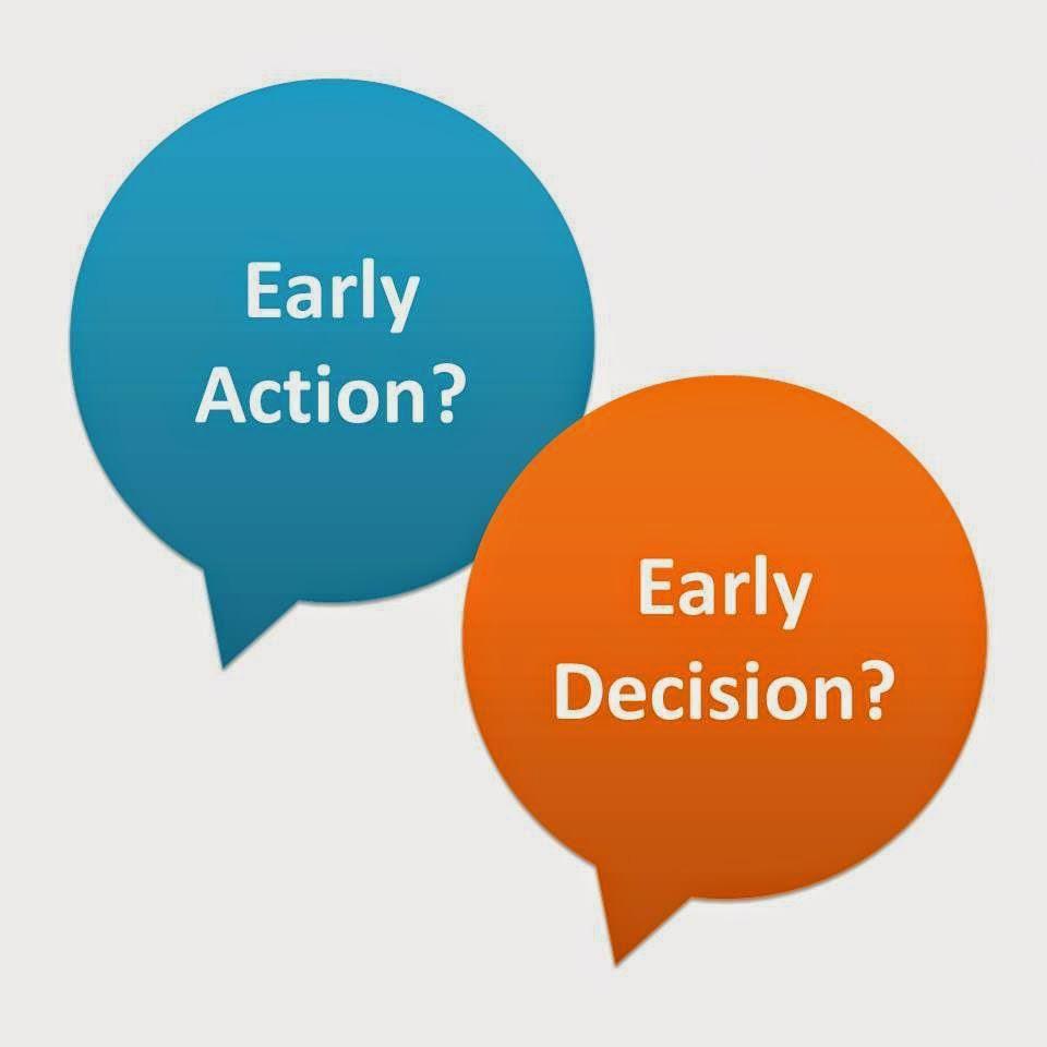 Kết quả hình ảnh cho early decision early action
