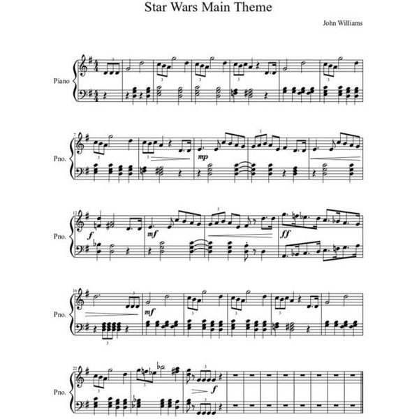 Sheet Music For Imperial March On Piano: Pin By Yasumin Raksasana On My Polyvore Finds