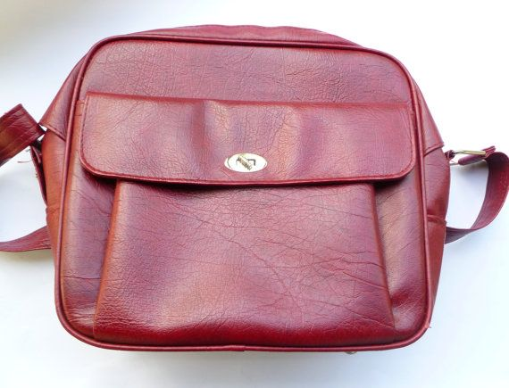 Vintage Cherry Red Samsonite Travel Carry On by LifeOnArborLane, $26.00