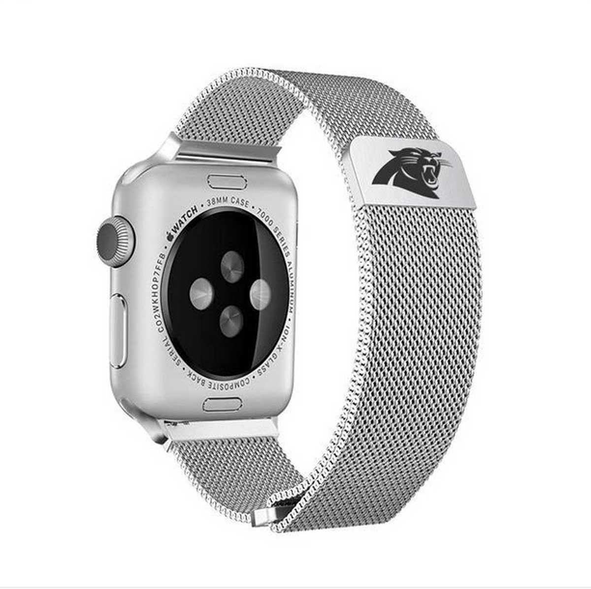 Must Have For Carolina Panthers Fans Officially Licensed Stainless Steel Watchband For Your Apple Watch Fits Apple Series 1 2 3 Apple Watch Watch Bands Apple Watch Bands