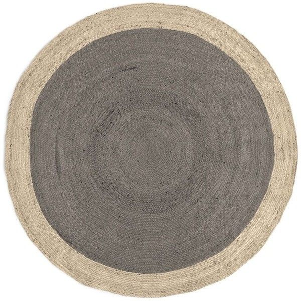West Elm Spo Bordered Round Jute Rug 6 Platinum 5 855