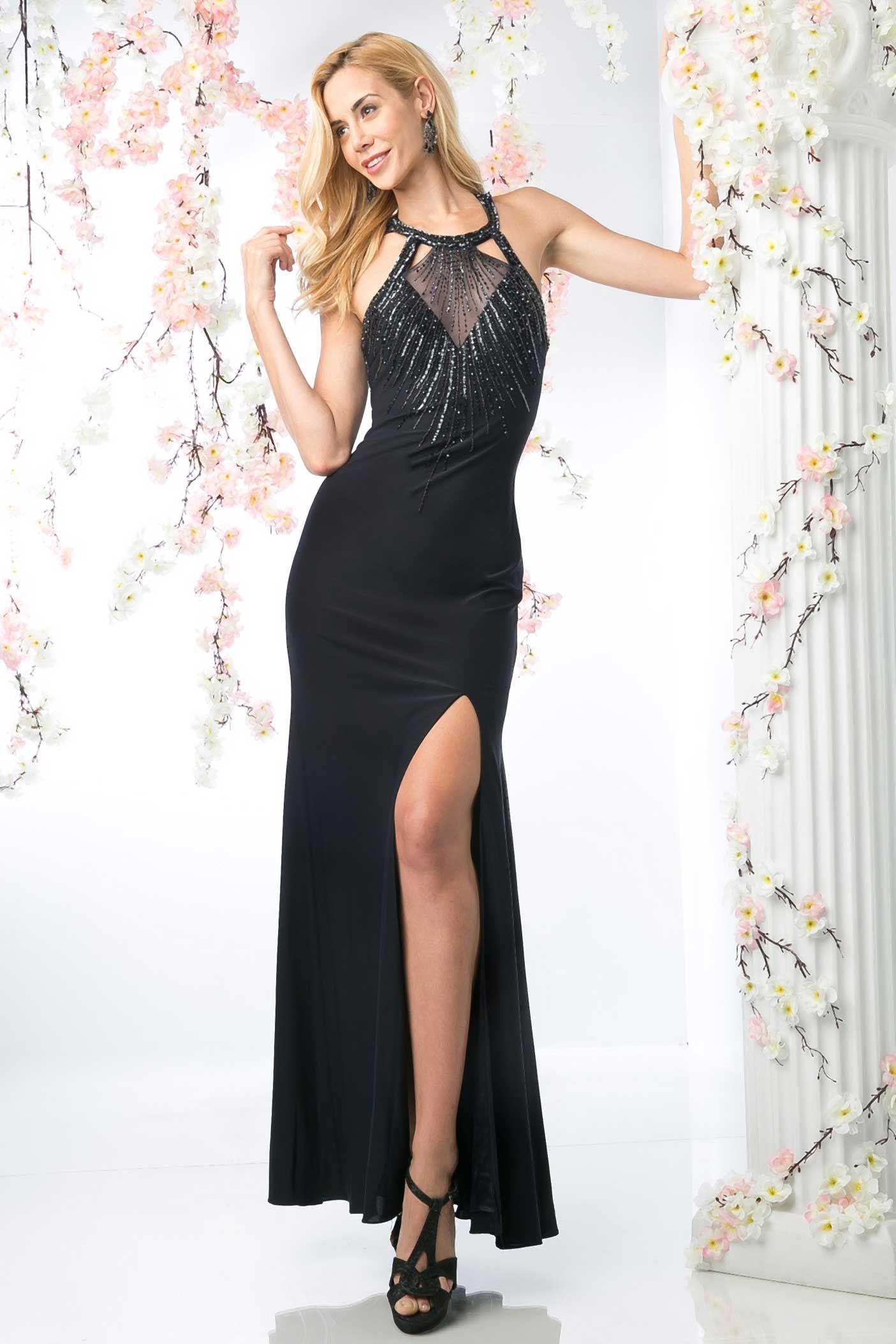 Long evening dress cdj sheath shape long prom and evening dress