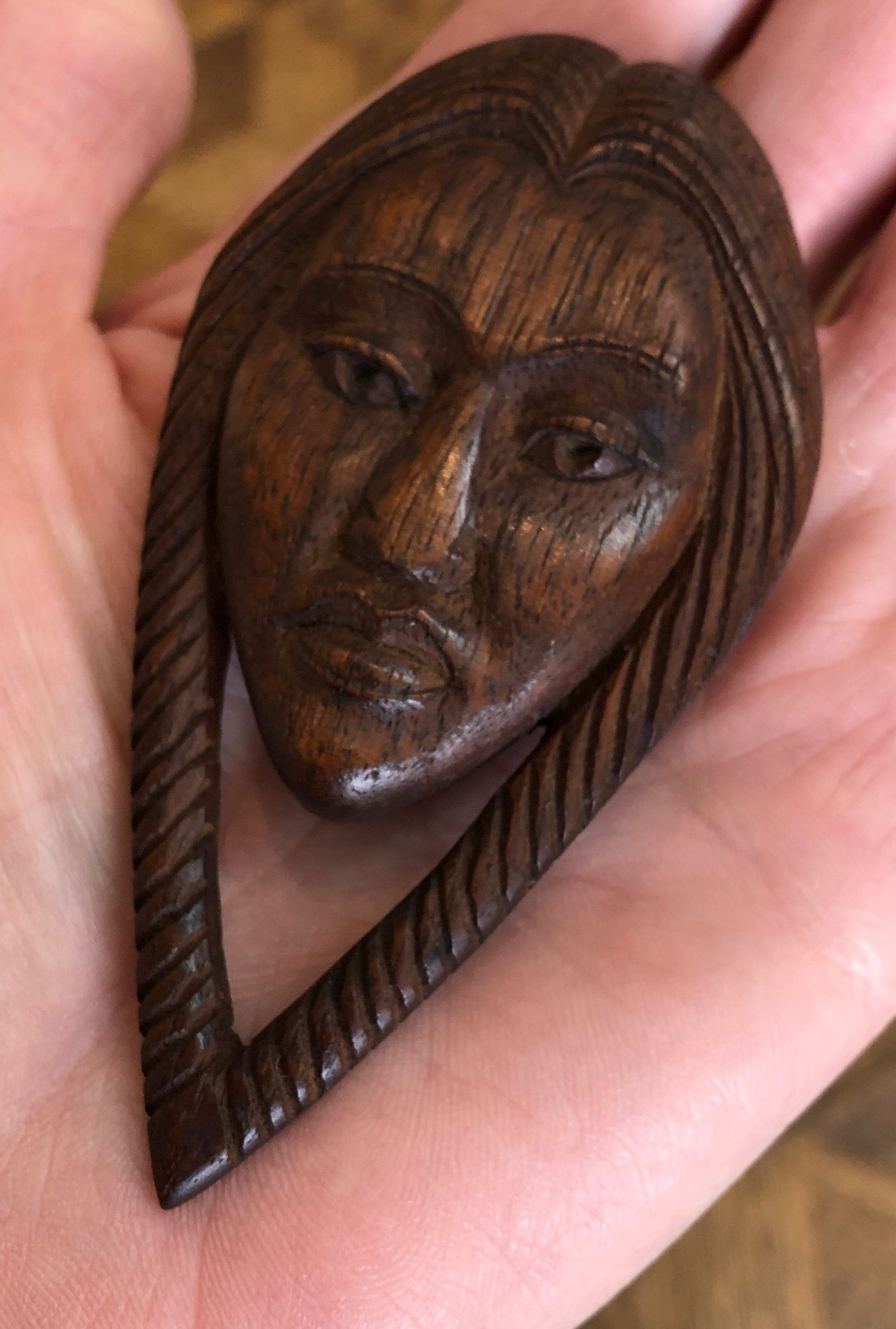 Willard stone carved wood pin oklahoma historic artists in