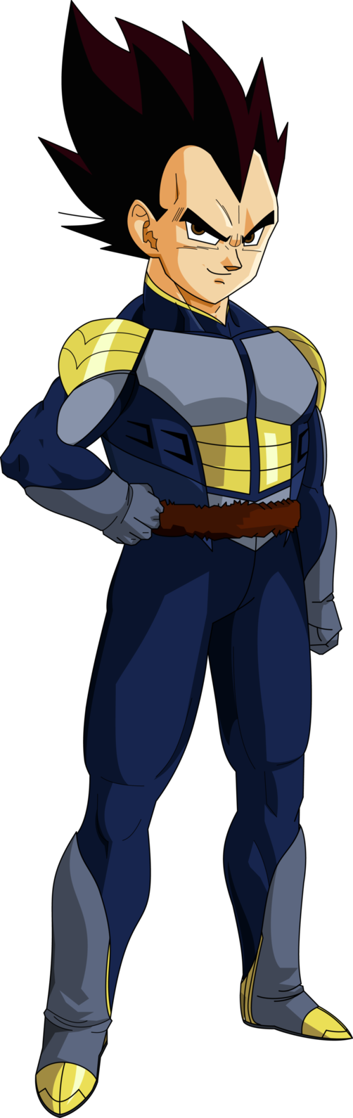 Here Is Krillin In His Saiyan Armor On Namek Vectored From