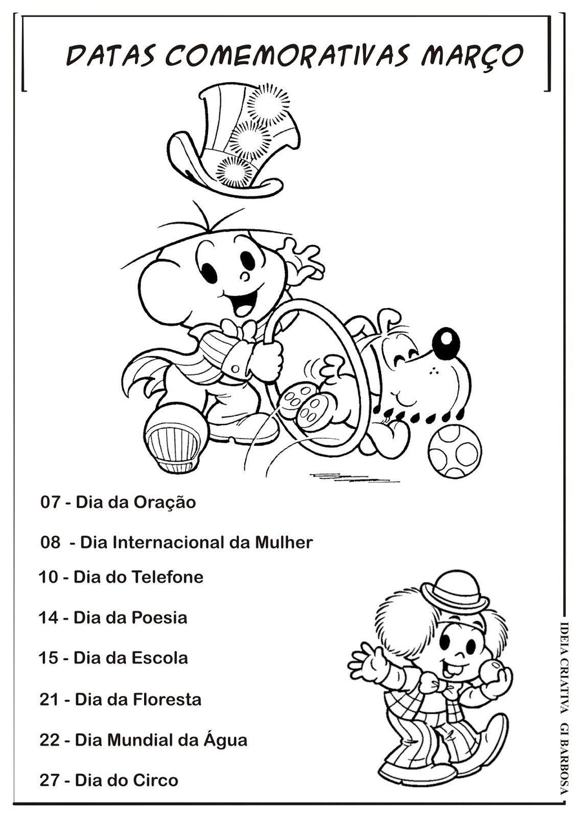 Datas Comemorativas Mes De Marco Com Imagens Calendario De Datas Comemorativas Datas Comemorativas Educacao Infantil Datas Comemorativas Escolares