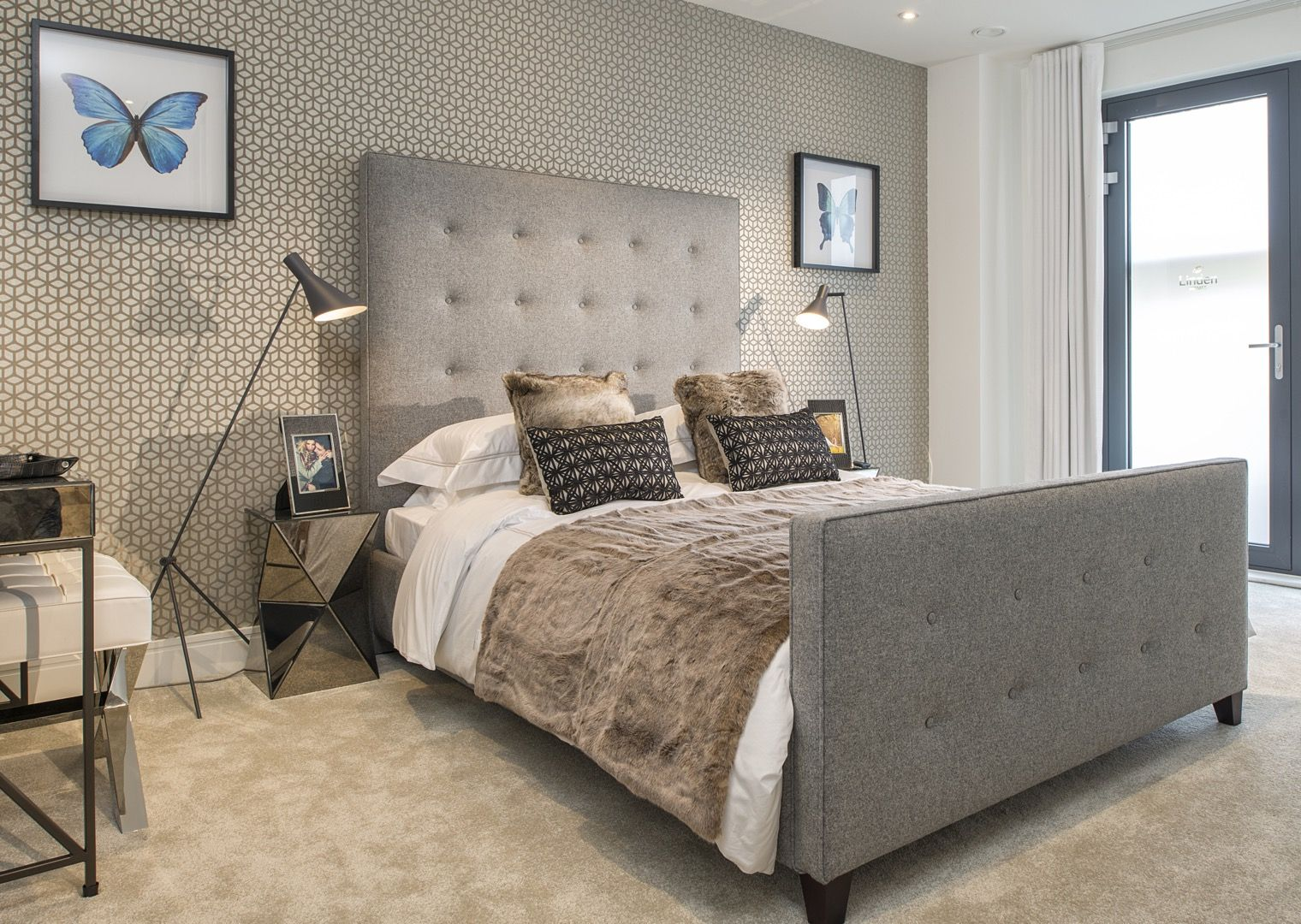 Pictures of show home interiors.