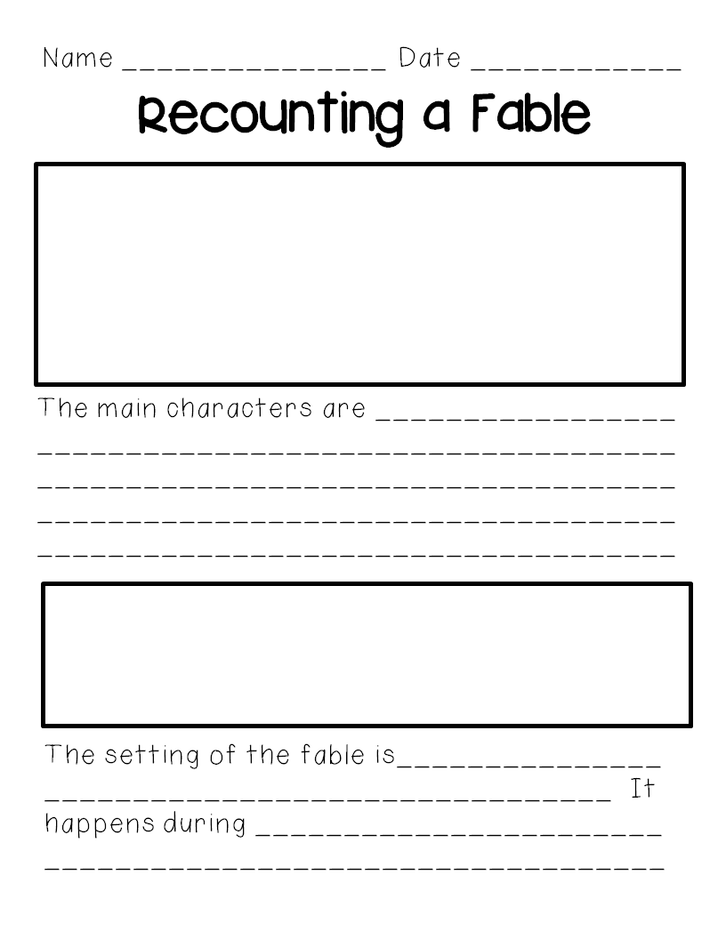 Recounting Fables Freebie Genres Reading Genres 3rd
