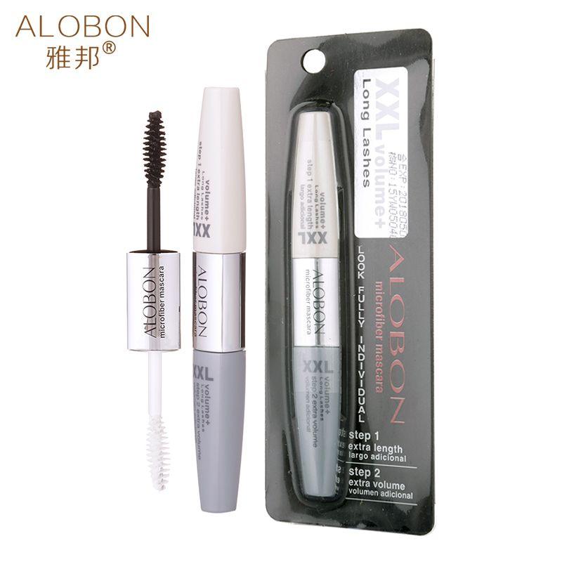 2fcf7af61c8 Only $1.91 , Alobon Double-headed 3D fiber lashes black Mascara rimel  Mascara waterproof Growth eyelashes Extend eyelashes Cosmetic Tools