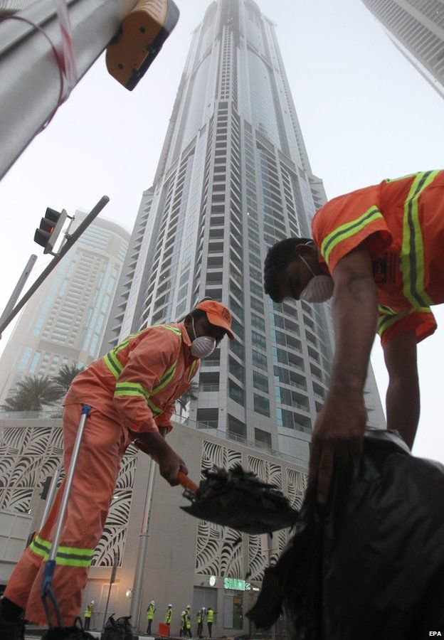 Fire rips through Torch skyscraper in Dubai - Source - BBC News - © 2014 BBC #Fire, #Dubai