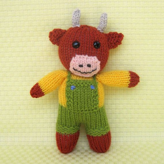 Knitting Small Animals : Small knitted toy patterns free butterscotch the bull