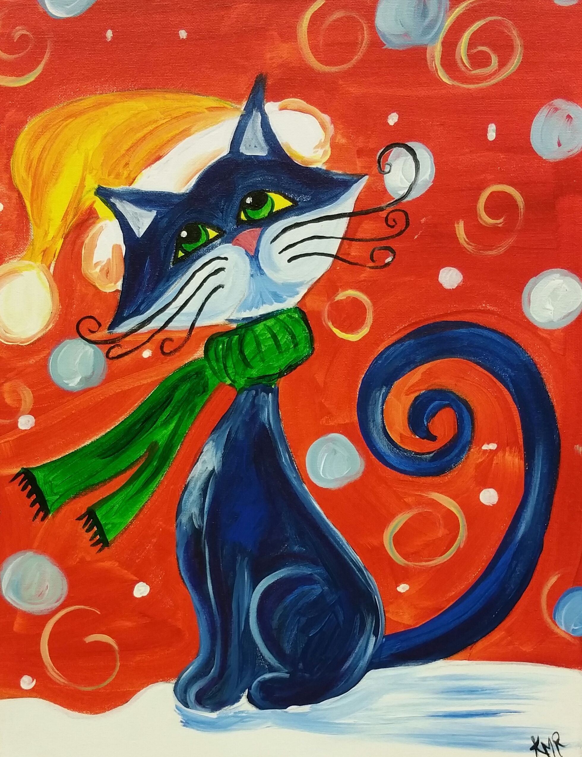 Black Cat Painting Image By Lisa Green On Painting Ideas Cat Painting Wine Painting