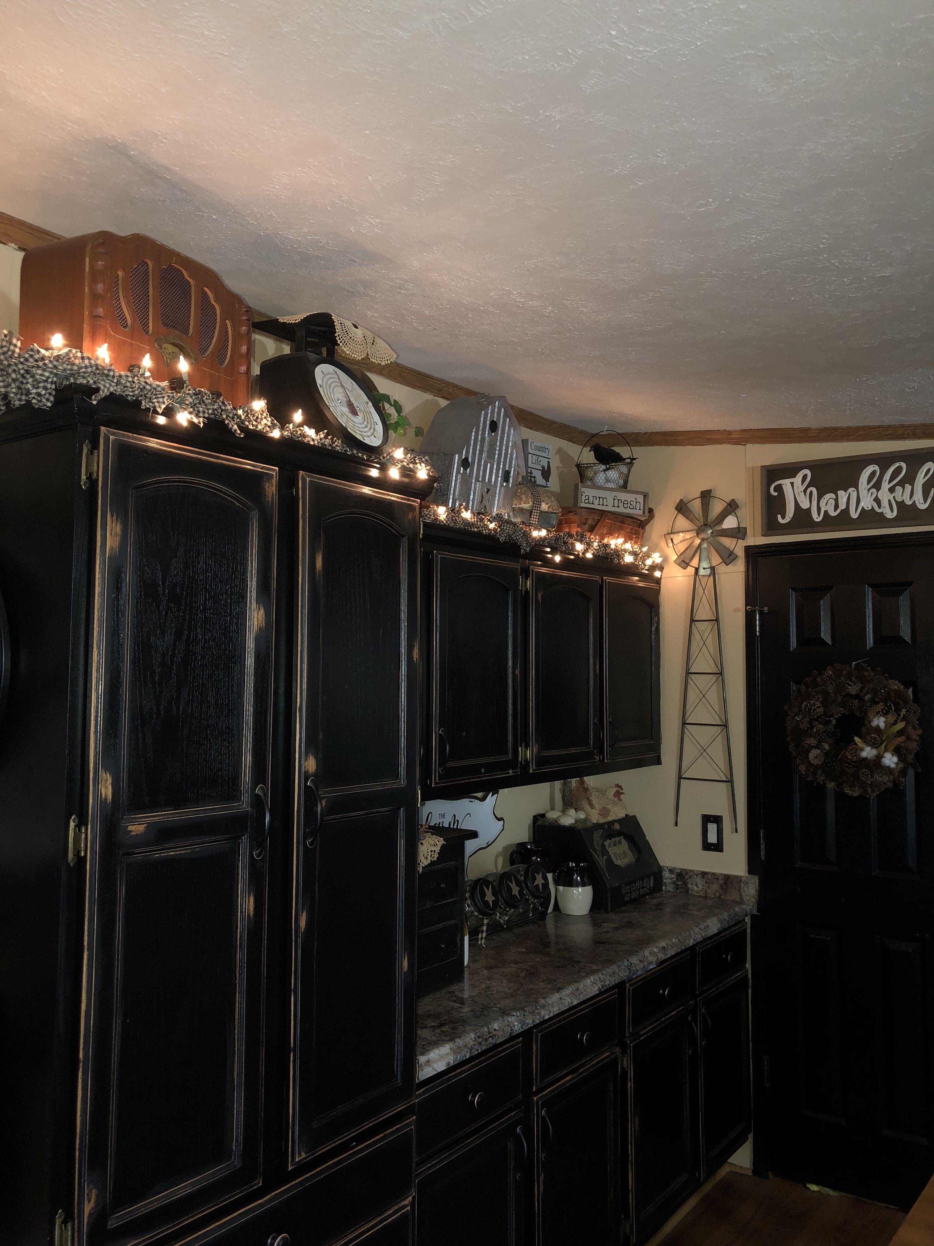 Farmhouse Primitive Decor Diy Kitchen Decor Mobile Home