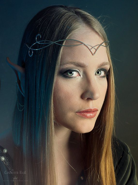 Sindar elven crown tiara circlet wire wrapped, wire tiara, Headband, Crystal Wire Fashion Tiara, Elvish tiara, crown, green tiara #crowntiara