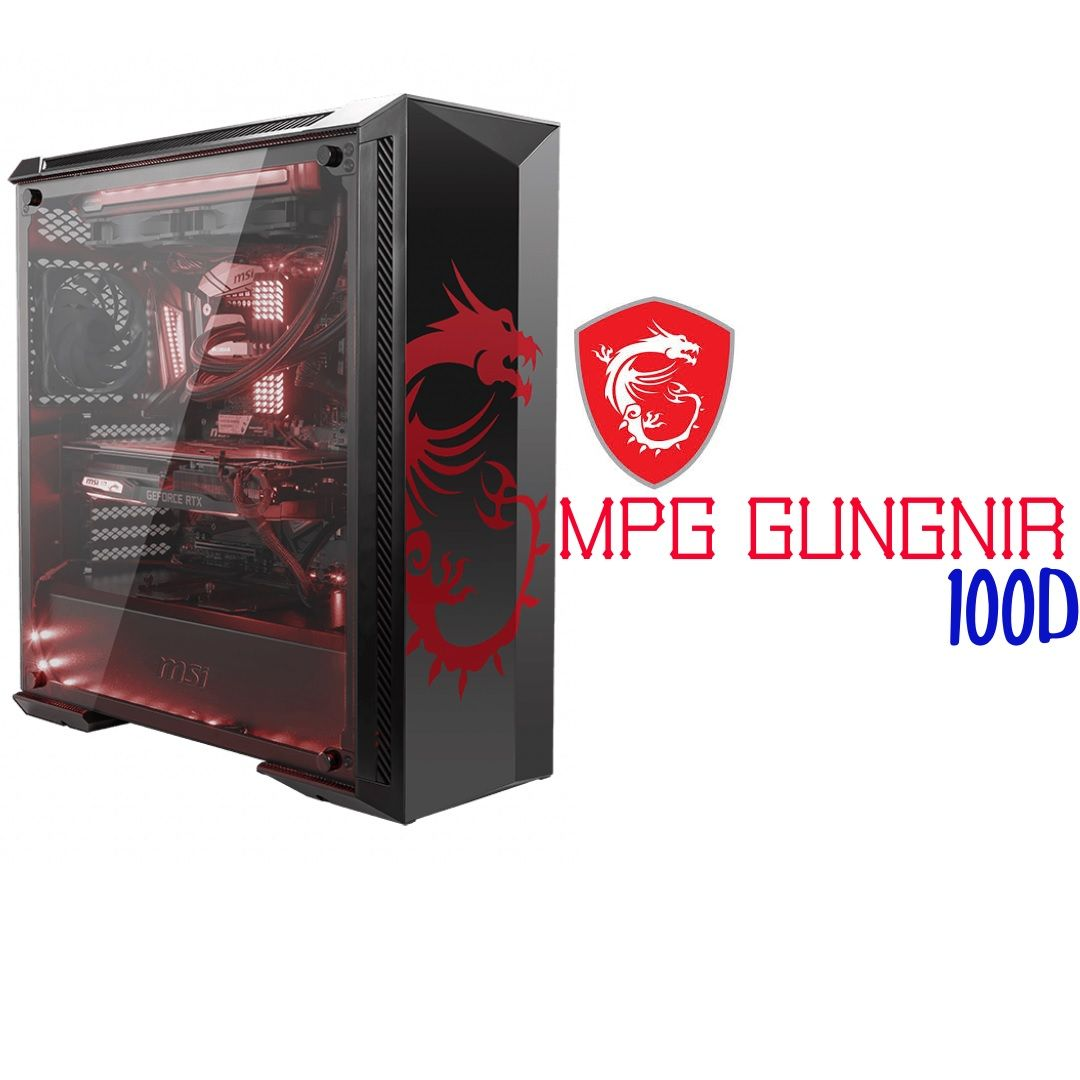 Msi Mpg Gungnir 100d Mid Tower Cabinet Black Computer Casing