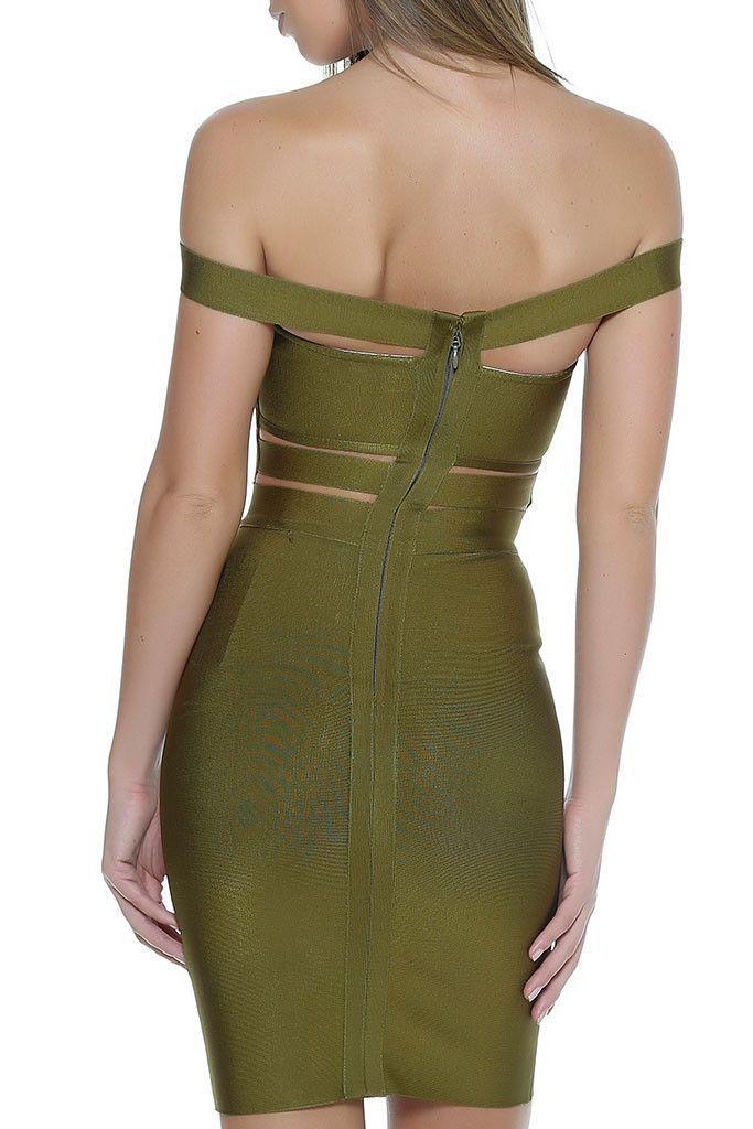 KJ Bandage Dress- OLIVE