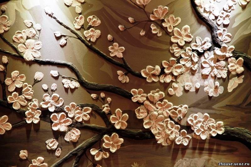 Барельеф на стене цветок своими руками 72
