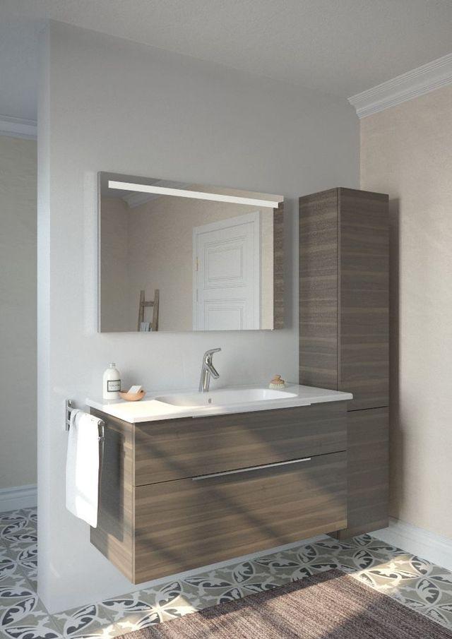 Meuble salle de bain  les nouveautés du moment Upstairs bathrooms - peindre un meuble laque blanc
