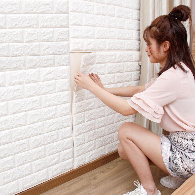 3d stickers muraux mur de briques motif auto adhsif papier peint chambre salon dcoration tanche art - Decoration Stickers Muraux Adhesif